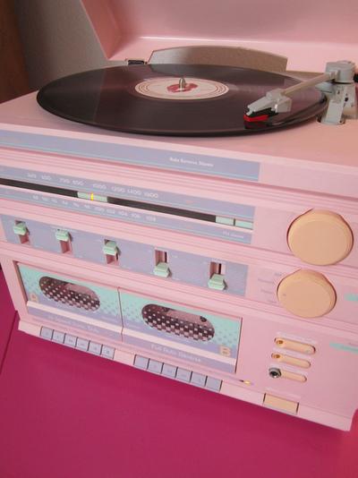 radio vintage rosa