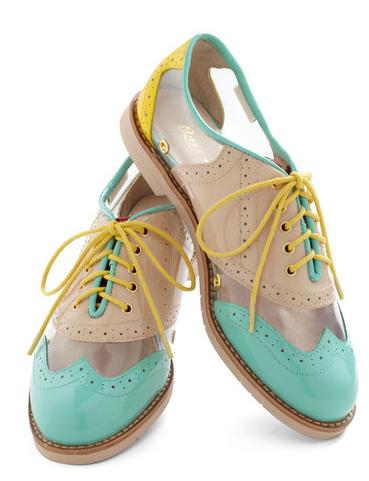 zapatos planos transparentes
