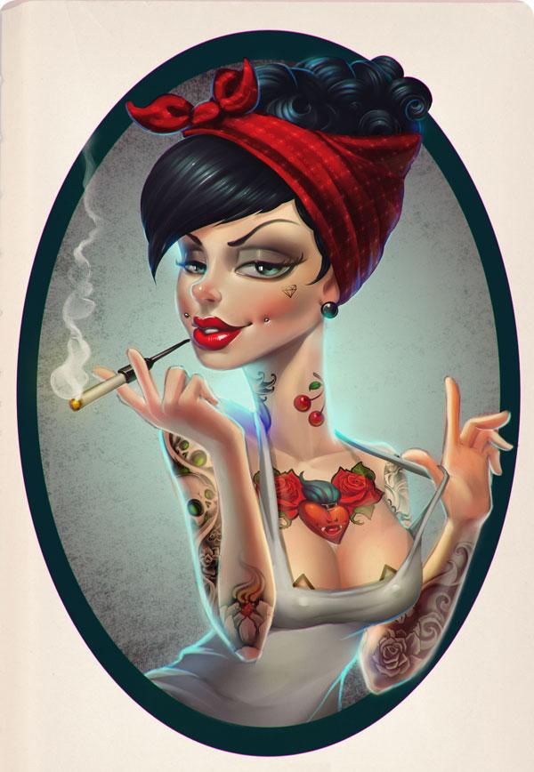 nestor-david-marinero-cervano-tattoed-girl