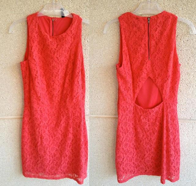 vestido encaje coral