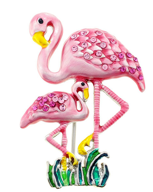 flamingo-brooch