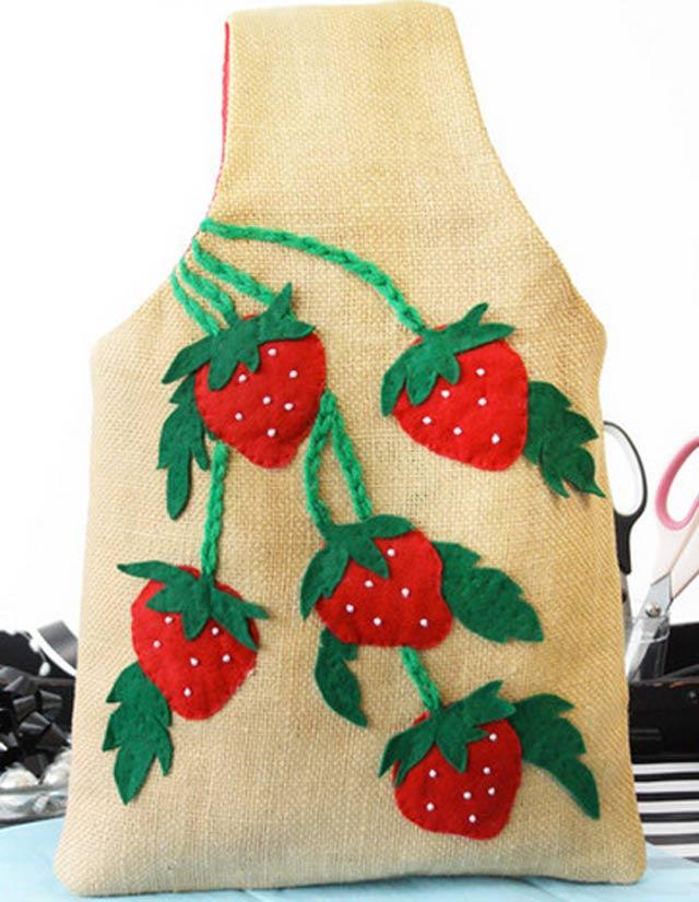 bolso handmade fresas